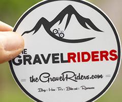 The round gravel sticker